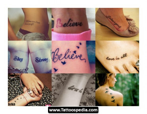 Inspirational Quotes Tattoo Ideas