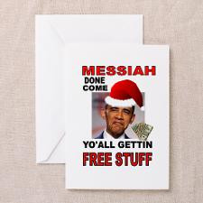 OBAMA MESSIAH Greeting Cards (Pk of 10) for