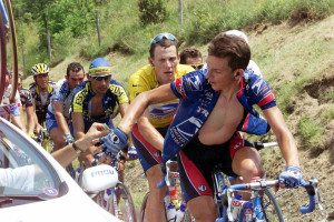 Tyler Hamilton and Lance Armstrong