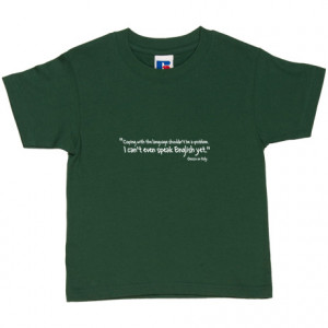 Paul Gascoigne Italy Quote Racing Green Kids' T-Shirt. Coping with the ...