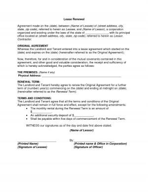 Lease Renewal Notice