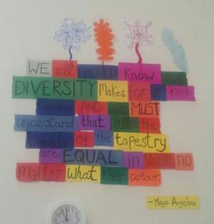 Diversity quote display