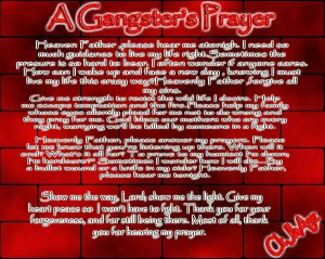GANGSTER PRAYER