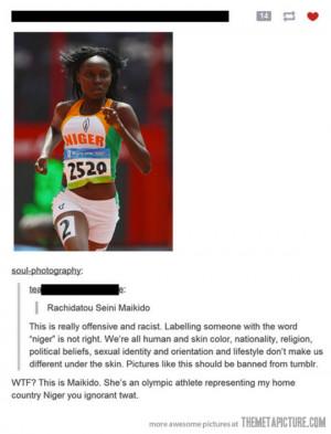funny black woman running