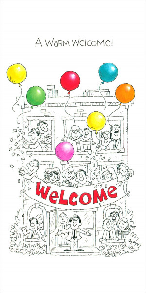 Home > Business Greeting Cards > Welcome Cards > Warm Welcome Card