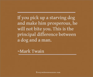 Mark Twain Dog Bite