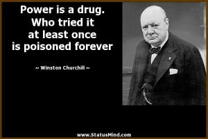 ... once is poisoned forever - Winston Churchill Quotes - StatusMind.com