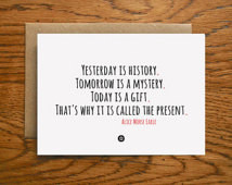 Card with Gift Quote by Alice Morse Earle ...