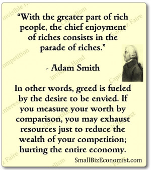 an analysis of the topic of the economics and the role of adam smith Of a commonly held interpretation of adam smith's political economy as depicted  from his  the subject, but not the object, of all our passions and interests smith   but what is the role of the social passions and interests in the wn one of the.