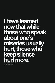 ... more it hurts...but when there are no words left what do you say? More
