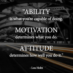 Ability | Motivation | Attitude | Lou Holtz Quotes