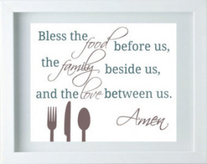 ... Family Love Quote Taupe Green Wall Art Dining Room Decor Thanksgiving