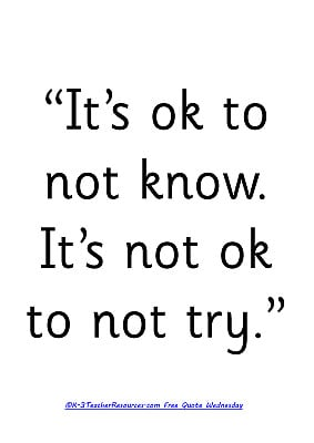 Tags: Its Ok To Not Know Childrens Quote , Childrens Quotes , Quotes ...