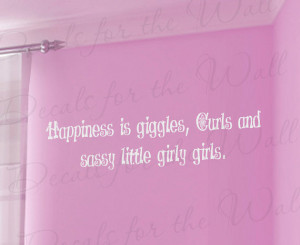 Sassy Little Girl Room Kid Baby Nursery Adhesive Vinyl Lettering Quote ...