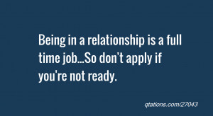 Quotes On Not Being Ready for a Relationship