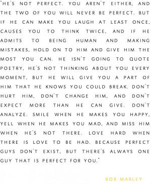 He isn't perfect.