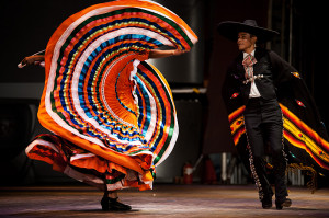 Traditional Mexican Dance Baile Folklorico Colorful Dress 1 - Seoul ...