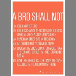 Bro Code - Six Rules - Poster