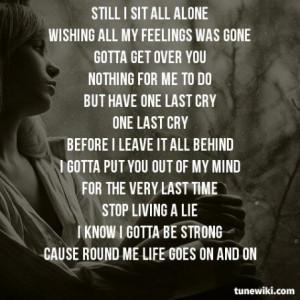 Lyric Art of One Last Cry by Brian Mcknight