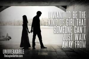 ... that someone can't just walk away from.
