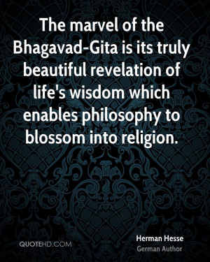 The marvel of the Bhagavad-Gita is its truly beautiful revelation of ...