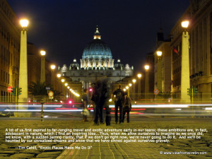The Inspiration Series – St. Peter's Basilica, Quote By Tim Cahill