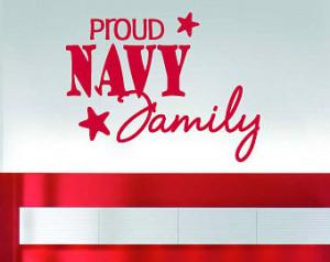 Proud Navy Family - Vinyl Wall Deca l - Wall Quotes - Vinyl Sticker ...