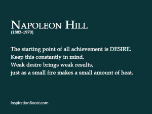 Napoleon Hill Desire Quotes