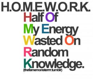 No homework essay