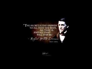 The Secret Ralph Waldo Emerson Quotes Image 540x405 The Secret Ralph ...