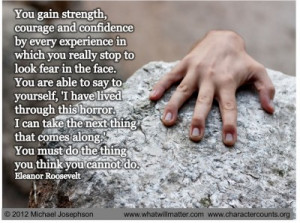 Post image for QUOTE & POSTER: You gain strength, courage and ...