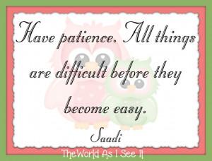 this weeks quote is by saadi