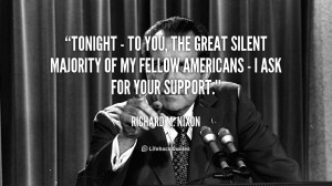 Silent Majority Nixon Richard-m-nixon/tonight-to