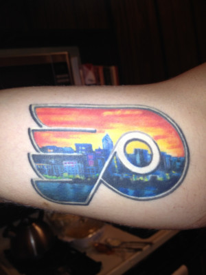 Philadelphia Flyers Tattoo, Ideas, Permanent Flyers, Hockey Tattoo ...