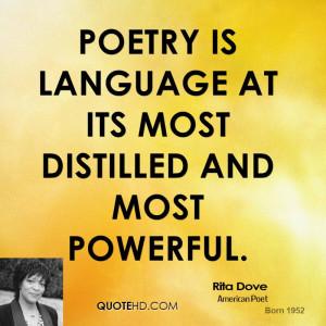 Rita Dove Poetry Quotes