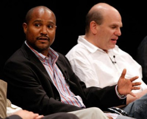 Seth Gilliam and David Simon at event of The Wire (2002)