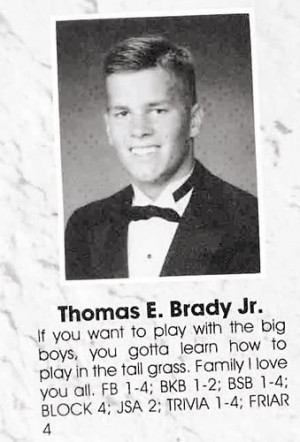 Better High School Senior Picture: Bill Belichick vs. Tom Brady