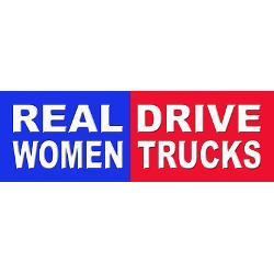 real_women_drive_trucks_bumper_bumper_sticker.jpg?height=250&width=250 ...
