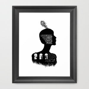 Daisy Buchanan - Quote Silhouette Framed Art Print
