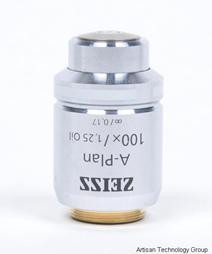 carl zeiss a plan 100x 1 25 oil immersion objective this carl zeiss a ...