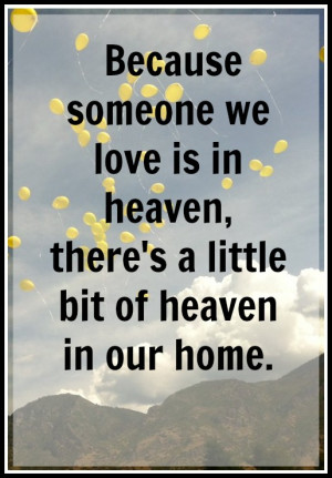 quotes about heaven gained an angel