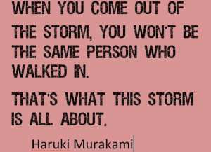 The Storm is all about lessons.