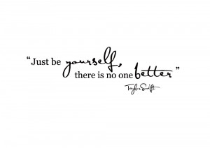 Just Be Yourself Lyric Wall Sticker by Taylor Swift
