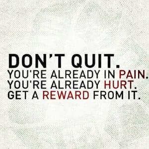 Don't quit, #motivation #fitness quote by ET