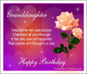 love for granddaughter sayings | free ecards greeting with peach roses ...