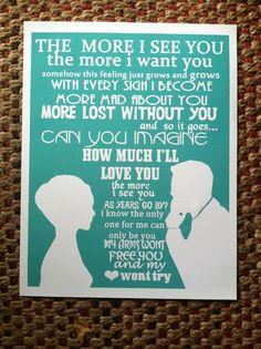 Nat King Cole art print, lyrics song music, frank sinatra LOVE text ...