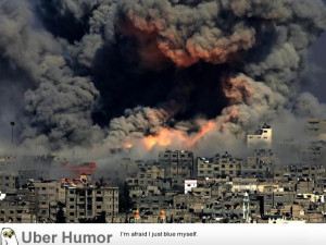 New photo from Gaza today looks like actual hell on earth