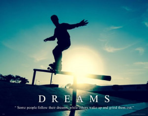 Skateboarding Motivational Poster Art Print 11×14 Shoes Decals Wall ...