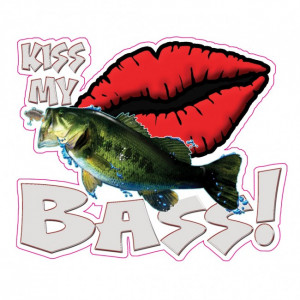 Home / Kiss My Bass Fishing Decal
