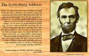 The Gettysburg Address.